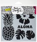 Crafter\u0027s Workshop Julie Fei-Fan Balzer Template 6\u0027\u0027x6\u0027\u0027-Aloha