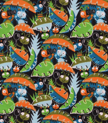 "3 Yard Pre-Cut Snuggle Flannel Fabric 42""-Curious Little Bugs"