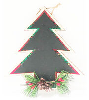 Maker's Holiday Christmas Woodland Lodge Chalkboard Tree Ornament, , hi-res