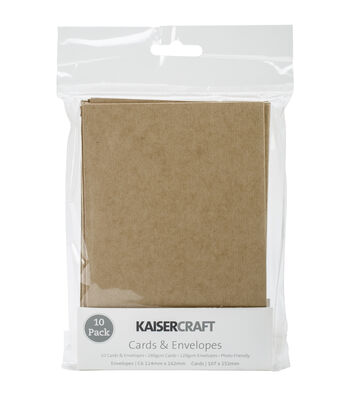 "Kaisercraft C6 Cards & Envelopes 4.5""X6.25"" 10/Pkg"