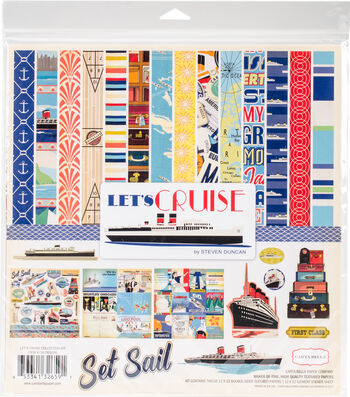 """Carta Bella Collection Kit 12""""X12""""-Let's Cruise"""