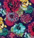 Modern Cotton Fabric 43\u0022-Large Floral Blue