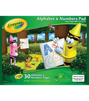 "Crayola Alphabet and Numbers Pad 10""X8""-30 Sheets/Pkg"