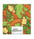 Fabric-Quarters Assorted Fabric-Monkey