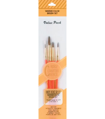 Crafter's Choice Watercolor Brush Set-4 Pack