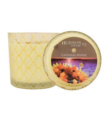Hudson 43™ Candle & Light Collection 19oz Patterned Glass Caribbean Market