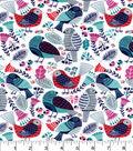 Snuggle Flannel Fabric 42\u0022-Birds Rose Blue
