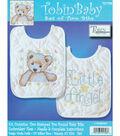 Tobin Baby Stamped Cross Stitch Angel Baby Bib