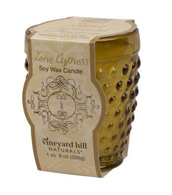 Susan Winget Gold Hobnail Glass Candle Lone Cypress 8 ounce