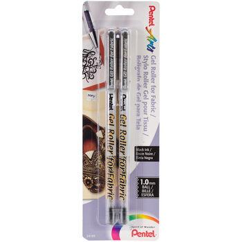 Pentel Fabric Gel Roller Pens Black
