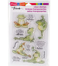 Stampendous Perfectly Clear Stamps 7.25\u0022X4.625\u0022-Frog Yoga