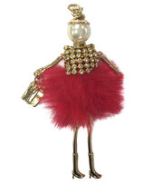 Laliberi Holiday Doll Pendant-Red Skirt, , hi-res
