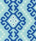 Waverly Kurta Embroidery Upholstery Fabric 55\u0022-Prussian