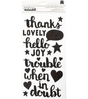 "Shimelle Little By Little Thickers Stickers 5.5""X11""-Hello Joy Phrase, , hi-res"