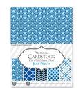 Darice Premium 8.5\u0027\u0027x11\u0027\u0027 Patterned Cardstock Paper Pack-Blue