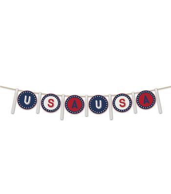 Americana Patriotic 5' Banner-USA