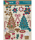 Joyeux Noel Silhouettes Die-Cuts 328/Pkg-