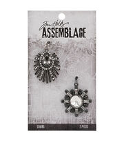 Tim Holtz® Assemblage 2 Pack Deco Finery Charms, , hi-res