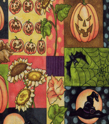 "Halloween Cotton Fabric 43""-Vintage Halloween Patch"