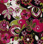 "Keepsake Calico™ Cotton Fabric 43""-Jacqueline Floral Pink Grn Blk, , hi-res"