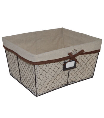 Farm Storage Large Lined Chicken Wire Basket