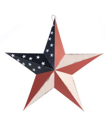 Americana Patriotic 18'' Metal Hand Painted Star