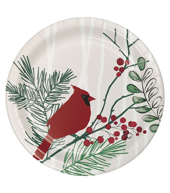 Maker's Holiday Christmas 8 pk Lunch Plates-Winter Wreath