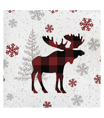 Maker's Holiday Christmas 20 pk Lunch Napkins-Holiday Moose