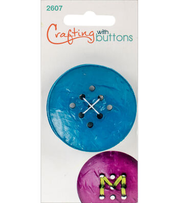 Crafting with Buttons Large 9 Hole Button-Teal