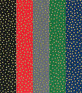 Fat Quarter Bundle Cotton Fabric 18\u0027\u0027-Metallic Dots