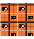 Philadelphia Flyers Flannel Fabric 44\u0022-Plaid