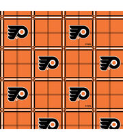 "Philadelphia Flyers Flannel Fabric 44""-Plaid, , hi-res"