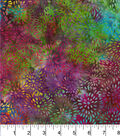 Legacy Studio™ Batik Cotton Fabric 44\u0022-Mums Rainbow