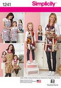 Simplicity Pattern 1241A Adult & Children\u0027s Aprons-Size S-L/S-L