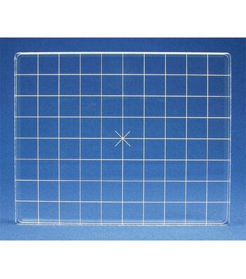 Acrylic Stamp Block W/Alignment Grid 4X5-4x5x.5