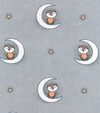 "Nursery Cotton Fabric 43""-Woodland Owls"