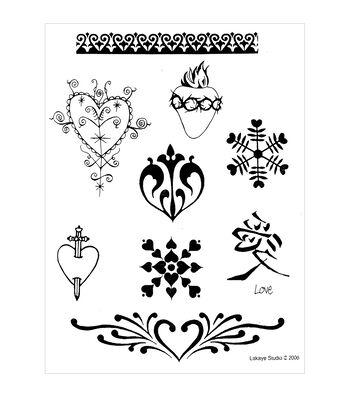 Earth Henna Hearts & Valentines - Stencil Transfer Pk