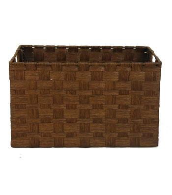 Organizing Essentials Paper Rope Cube Basket-Brown