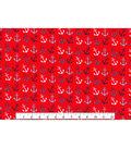 Novelty Cotton Fabric 43\u0022-Anchor Hearts