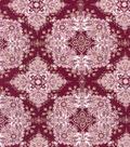 Buttercream Elizabeth Collection Cotton Fabric-Lace Metallic
