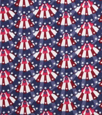 """Patriotic Cotton Fabric 43""""-Mini Bunting"""