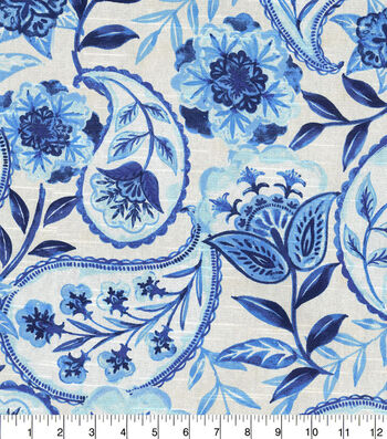 Kelly Ripa Home Upholstery Fabric 54''-Bluejay Happy Hour