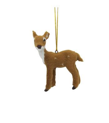 Maker's Holiday Christmas Fur Baby Deer Ornament