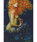 Red Mermaid Counted Cross Stitch Kit 14 Count
