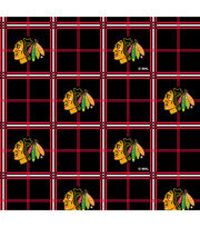 "Chicago Blackhawks Flannel Fabric 44""-Plaid, , hi-res"
