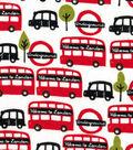 Snuggle Flannel Fabric 42\u0022-Welcome To London