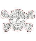 Iron On Silver Skull Nailhead Transfer