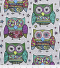 Novelty Cotton Fabric 43\u0027\u0027-Multi Colored Owls