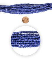 Blue Moon Bead Strands Seed Bead Hank size 6/o Royal Blue, , hi-res