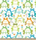 Abstract Frogs Print Fabric